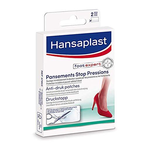 Hansaplast pansement Foot expert 2 Bandes de Pansements Stop Pressions, Pansements hydrocolloïdes à découper, Pansements résistant à l'eau spécial zones de frottements