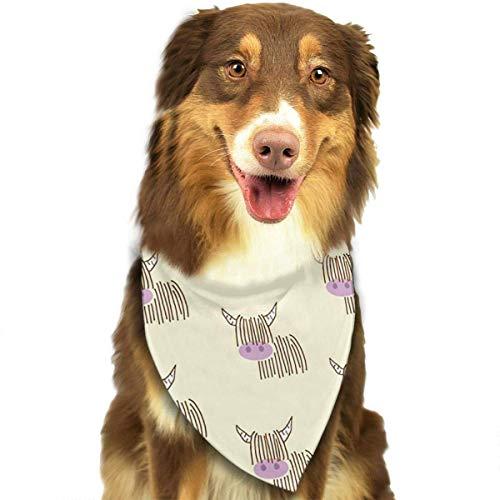 FunnyStar hond Bandana Highland koe crème sjaals accessoires decoratie voor huisdier katten en puppies