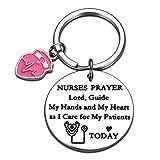 Nurses Keychain Women Valentines Gift for Nursing Student Graduation New Registered Nurse Birthday for Medical Professional Nurses Day Appreciation Christmas New Year Thank You Present Nurse's Prayer