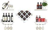 XAGB ワインラック現代のシンプルなワインラックウォールは、ワインキャビネットワイングリッドアセンブリレストランシェルフをマウント (Color : A)