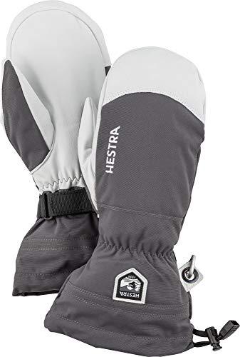 Hestra Skihandschuhe für Damen und Herren, Armee-Leder, Winddicht, wasserabweisend, Winterhandschuhe, Grau, 10