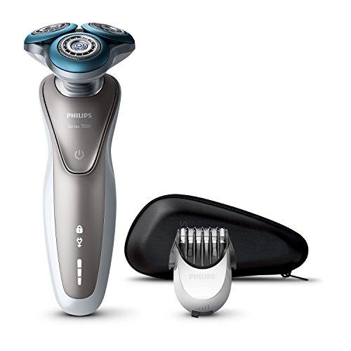 Philips S7510 Afeitadora Eléctrica para Hombre Rotativa, Recortador de Barba,...