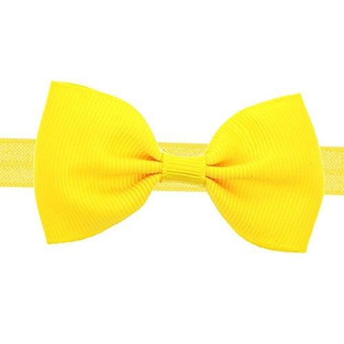 Baby Kids Mini Schleife Haarband – Mädchen Solid Multi Color zur Auswahl – Elastisches Stirnband für niedliche Kleinkinder Babys Mädchen