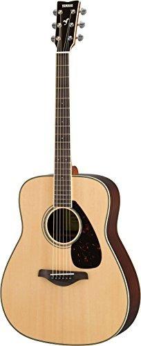 Yamaha FG830 Solid Top Folk Guitar, Natural