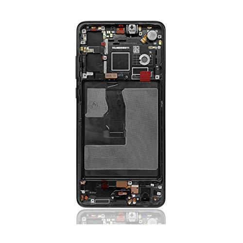 Pantallas LCD para teléfonos móviles Mostrar Piezas de Repuesto digitalizador de Pantalla táctil/Ajuste para Huawei P30 LCD ELE-L29 ELE-L09 ELE-AL00 (Color : Aurora with Frame)
