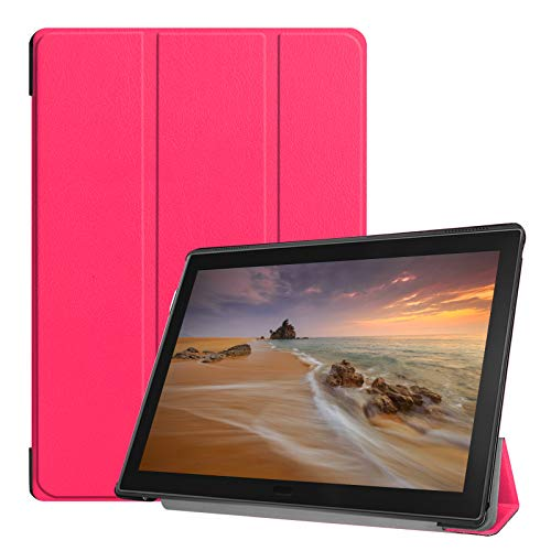 Cover für Lenovo Tab E10 TB-X104F 10.1 Zoll Tablethülle Schlank mit Standfunktion und Auto Sleep/Wake Funktion Pink