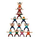 MxZas Bloques de construcción Niños de 3 a 12 años Hércules Equilibrio de apilamiento Bloques de construcción Altos Juguetes for niños Puzzle favores de Partido Suministros para los niñ