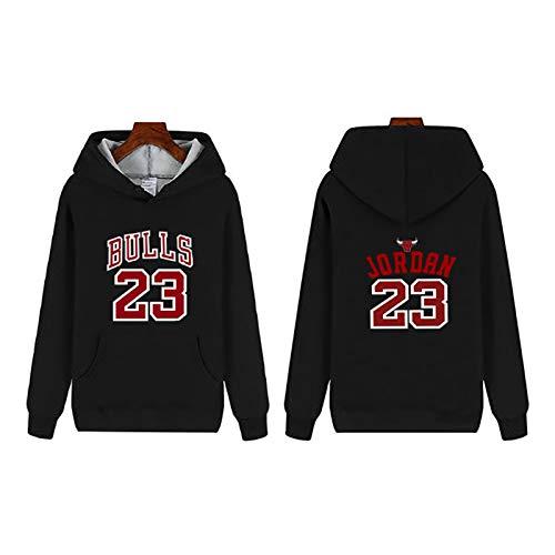 YDZM Bulls 23 # Jordan - Sudadera con capucha para hombre y mujer, manga larga con forro polar o cremallera, S-5XL negro 2-XXXXXL