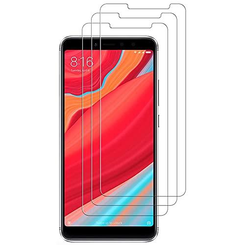 iGlobalmarket (Pack 3 Unids) Protector Pantalla para Xiaomi Redmi S2, Vidrio Cristal Templado, dureza 9H, sin Burbujas, antiarañazos