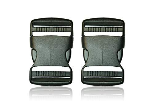 Schnalle 2X50MM- Double Side Release Schnallen Clips- Steckverschluss - Steckverschluss, Kunststoff Klickverschluss, Klippverschluss, Steckschnalle, Ersatzschnalle, Klippverschlüsse für Rucksack