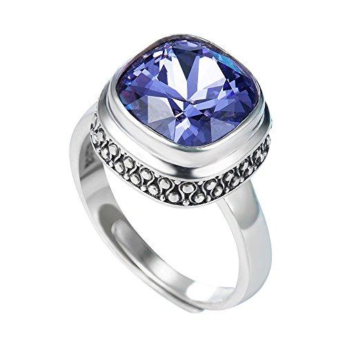 Yameng 925sterling Silver viola cristallo anello da ragazza