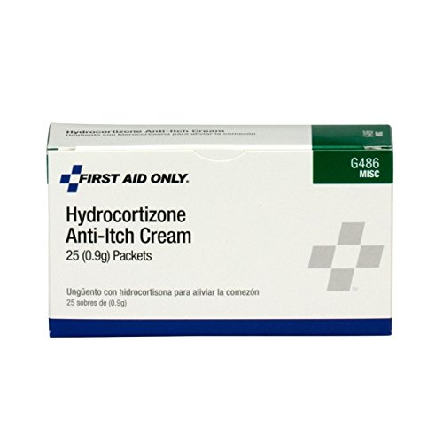 First Aid Only G486 Hydrocortisone Cream Packet, 25 Count