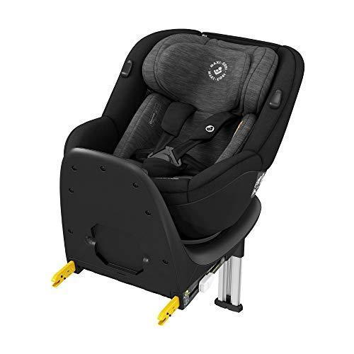 Maxi-Cosi Mica, 360° drehbarer i-Size Kindersitz inkl. ISOFIX Basis, Gruppe 0/1 Autositz (bis ca. 105 cm / 18 kg) G-Cell Seitenschutz, nutzbar ab ca. 4 Monate bis ca. 4 Jahre, authentic black