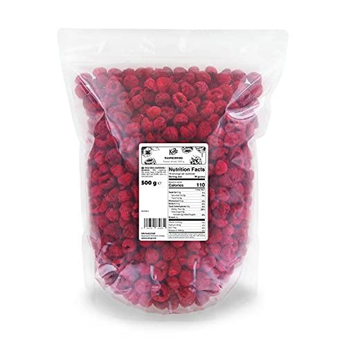 KoRo - Framboises lyophilisées 500 g - Fruits secs, sans sucre, sans gluten, séchés délicatement, alimentation végétale naturelle