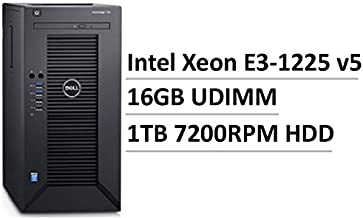 2017 Newest Flagship Dell PowerEdge T30 Business Mini Tower Server, Intel Quad-Core Xeon E3-1225 v5, 16GB UDIMM RAM, 1TB HDD 7200 RPM SATA, DVD+/-RW, HDMI, No Operating System, Black
