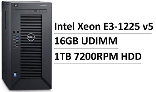 2017 Newest Flagship Dell PowerEdge T30 Business Mini Tower Server, Intel Quad-Core Xeon E3-1225 v5, 16GB UDIMM RAM, 1TB HDD 7200 RPM SATA, DVD+/-RW, HDMI, No Operating System, Black