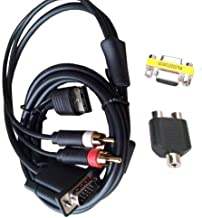 OSTENT DC VGA Video Cable HD RCA Adapter Japan NTSC US PAL Compatible for SEGA Dreamcast Console