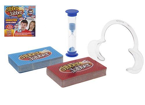 jibber jabber Party Spiel - Das Hilarious Mundstück Spiel für Weihnachten Party Loud Mund Brettspiel Challenge - Deutsche Edition Version - Familienspiele