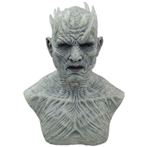 Night King Maske, Halloween Cosplay Nacht König Zombie Latex Masken Halloween Party Kostüm Requisiten, Halloween Requisiten Dekorationen White Walker Zombie Maske Nights King Cosplay Kostüm