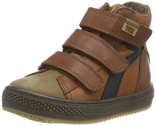 Bisgaard Jungen Eik Hohe Sneaker, Braun (Cognac 502), 25 EU