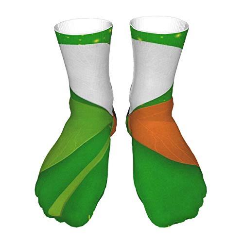 N \ A Crew Socks St. Patrick's Day Irische Flagge Kleeblatt Herren Damen Neuheit Mitte Kleid Casual Socken Erwachsene