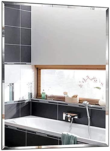 Espejo de baño de vanidad Iluminado, Borde Simple sin Marco, Lavado Plateado, Maquillaje Vertical Horizontal (Color: hipotenusa, tamaño: 500700 mm)
