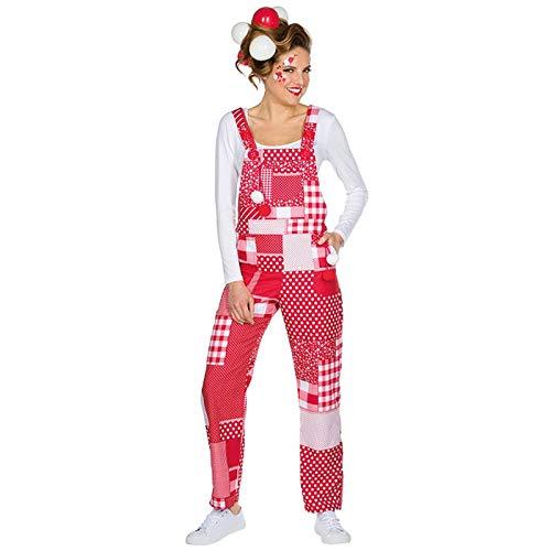 WOOOOZY Latzhose Karneval Rot/Weiß, Gr. M-L