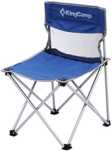 YC-Q5W0 Silla Camping - 78 * 50 * 50 cm - Estructura de Acero y Textiles Impermeables: Carga hasta 100 kg - Bolsa de Transporte - Color Azul