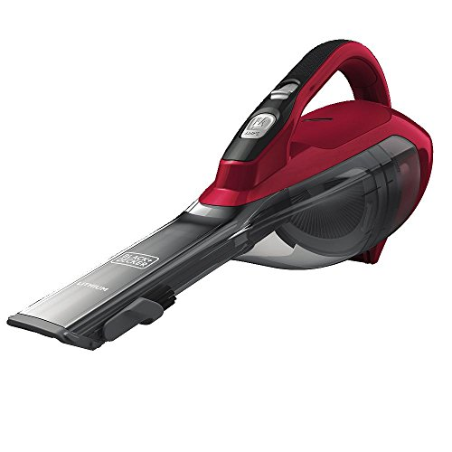 BLACK+DECKER dustbuster Handheld Vacuum, Cordless, Chili Red (HLVA320J26)