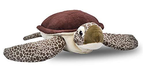 Wild Republic 19332 Jumbo Plüsch Schildkröte, großes Kuscheltier, Plüschtier, Cuddlekins, 76 cm