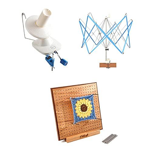 Yarn Winder and Umbrella Swift with 8 inch Blocking Board