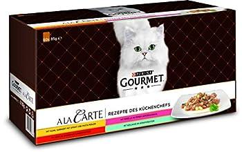 PURINA GOURMET A la Carte Nourriture Humide pour Chat, mélange de variétés, Paquet de 12(12 x 4sachets de 85g)