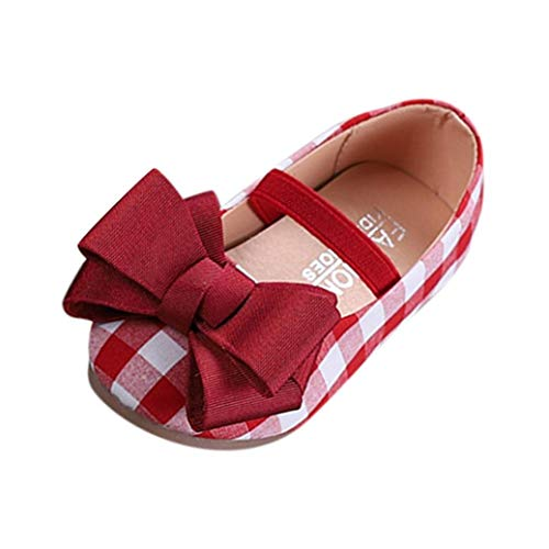 Zapatos para Niñas Otoño 2018 Moda PAOLIAN Zapatos de Vestir Estilo Británico Boda Calzado Estampado Cuadros Invierno Chica Suela Blanda Regalo Fiesta Niñas Merceditas con Bowknot