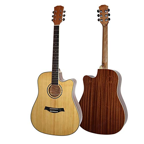 ZIEO Gitarre 41inch Handgemachte Massivholz-Gitarre Akustikgitarre Natur Akustikgitarre Kits (Color : Natural, Size : 41 inches)