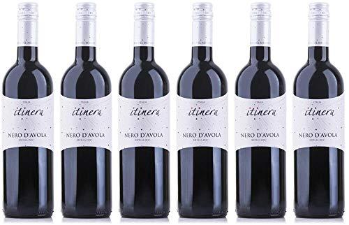 6x Nero d\'Avola Sicilia 2018 - Itinera - Mondo del Vino, Calabria - Rotwein