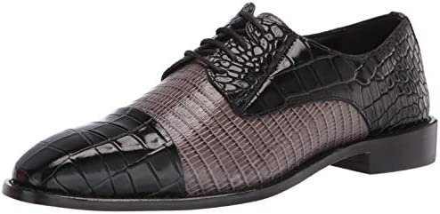 Stacy Adams Men s Talarico Cap Toe Oxford Black Gray 11 Wide US product image
