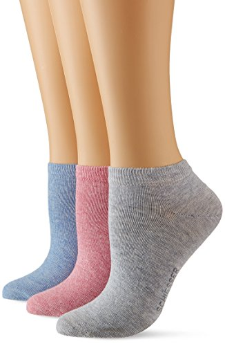 Schiesser Damen Sneaker (3PACK) Socken, Mehrfarbig (Sortiert 1 901), 35/38 (Herstellergröße: 400) (3er Pack)