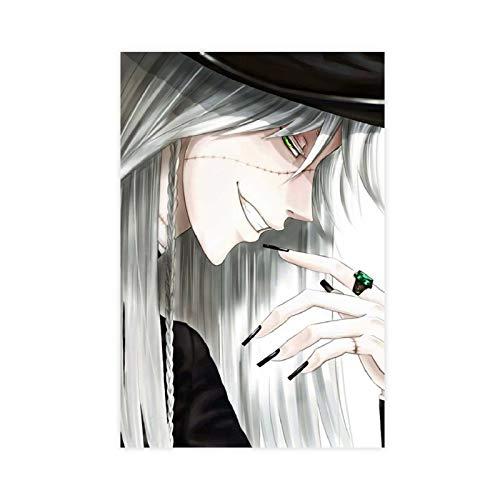 Anime-Poster Black Butler Undertaker 2 auf Leinwand, Wandkunst, Dekordruck, Gemälde für Wohnzimmer, Schlafzimmer, Dekoration, 50 x 75 cm, ohne Rahmen