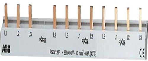 ABB PS 3/12FI - Dreiphasen-Leiste 12 Mod, Querschnitt 10 mm², weiß