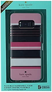 Kate Spade NY Hybrid Case for Samsung Galaxy S8 (GS8) - Clear - Pink Stripes