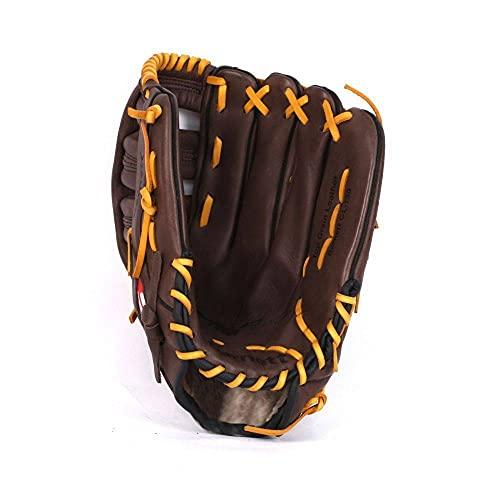 GL-127 REG braun Baseball Handschuh, Echtleder, Wettkampf, Outfield & Softball Grösse 12,7 (Rechte Hand Wurf)