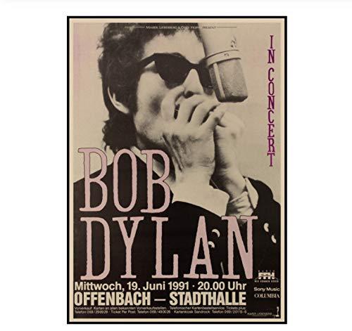 MXIBUN Bob Dylan Poster Retro Packpapier - Malerei Wand - Kunst - Bild Wohnzimmer Wohnkultur Raum - Dekor - 30 * 42cm Ohne Rahmen