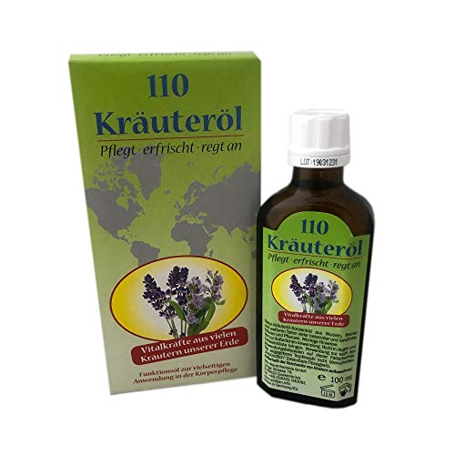 100ml Kräuteröl mit Vitalkräften | Massageöl | Körperpflegeöl | Körperpflege | Funktionsöl aus 110 Kräutern