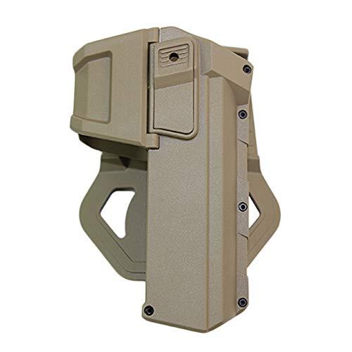 Yuansu Cintura Pistola Pistolera Táctica Móviles Pistola Airsoft Pistoleras De Glock 17 18 con La Linterna O Láser Montado Funda Mano Derecha (Color : Tan)
