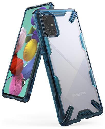 Ringke Fusion-X Compatible con Funda Samsung Galaxy A71 (6,7 Pulgadas), No para Galaxy A71 5G ** Transparente Rigida Carcasa Parachoque TPU Resistente Impactos Funda Negra - Space Blue