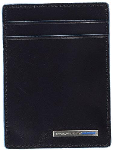 Piquadro Bustina Collezione Blue Square Porta carte di credito, Pelle, Blu Scuro, 10 cm