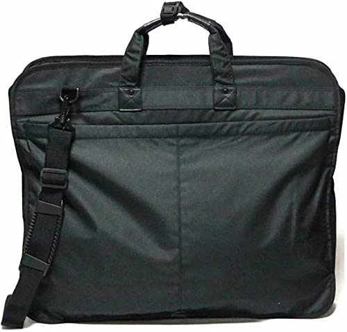 ブラック ガーメントバッグ ガーメント バッグ メンズ スーツ 2着 コンパクト ビジネスバッグ キャリー ハンガー ケース ショルダー 折りたたみ ジャケット スーツ 持ち運び キャリーオン 1130952-F-003a