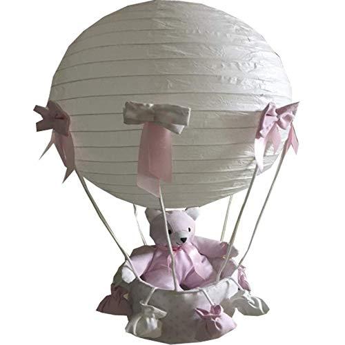lampara techo lunares rosa 60 cm alto