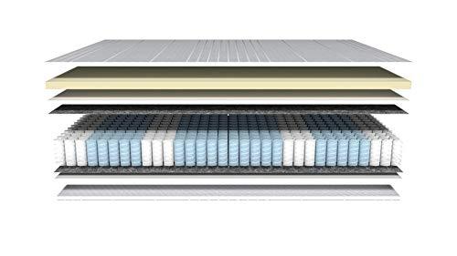 AM Qualitätsmatratzen - Latex-Matratze 90x200cm - H3 - Latex-Taschenfederkernmatratze - Matratze mit integrierter 4cm Latex-Auflage - 24cm Höhe - Made in Germany