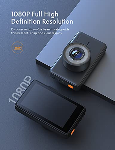 APEMAN Dash CAM 1080P FHD DVR Car Driving Recorder 3 Inch LCD Screen 170 Wide Angle G-Sensor WDR Parking Monitor Loop Recording Motion Detection